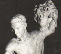 Persée brandissant la tête coupée de la Gorgone